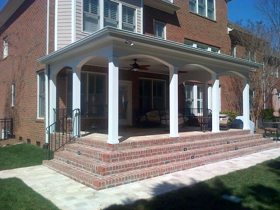 Back porch addition for a builder in N.C.